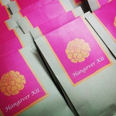 Hand out hangover kits at the end of your sangeet if you want your guests to make it to your wedding. | 20 Easy Ways To Make Your Indian Wedding Goddamn Adorable