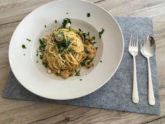 Pasta Scampi e Spinaci alla  Vapiano, ein sehr schönes Rezept aus der Kategorie Gemüse. Bewertungen: 48. Durchschnitt: Ø 4,3.