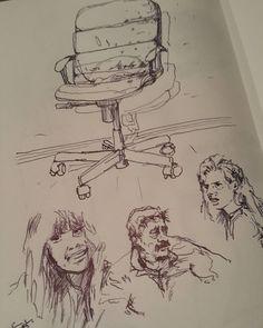 Моё кресло и три образа: тревога, пустое кокетство и равнодушие.  #drawing #illustration #portrait #sketch #ballpoint #sketchbook #art #artwork #painting #eskiz #портрет #рисунок #шариковаяручка #набросок #эскиз