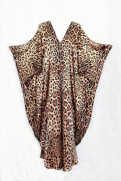 Leopard print Stretch Silk Full length Kaftan by by MollyKaftans, $249.00