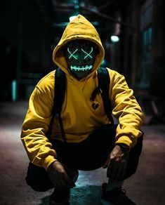 Purge Mask - Halloween Mask - LED Light Up Mask - Perfect for Parties and Raves and photoshoots Character Inspiration, Character Design, Purge Mask, Graphic Novel, Dope Art, Picsart, Cyberpunk, Concept Art, Graffiti