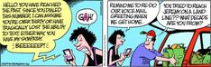 """Zits comic: Funny voicemail message - """"Hello. You have reacted the past..."""""""