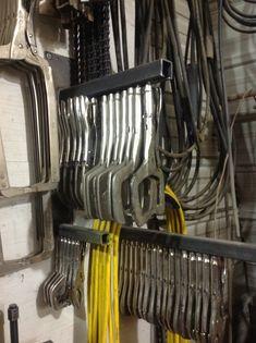 Vice grip storage rack