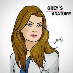 Meredith Grey Greys Anatomy Derek, Greys Anatomy Frases, Grey Anatomy Quotes, Meredith Grey, Lexie Grey, Cristina Yang, Anatomy Drawing, Anatomy Art, Arte Com Grey's Anatomy