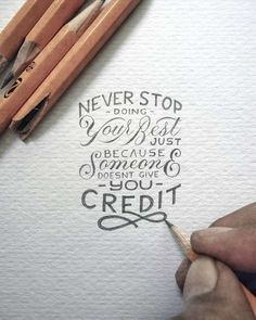Measuring just a few inches in size, the hand drawn lettering project by Indonesian artist Dexa Muamar are carefully rendered. But the crisp text belies the meaning of the quotes that he chooses which don't hesitate to punch you in the gut. Hand Lettering Quotes, Hand Drawn Lettering, Typography Quotes, Brush Lettering, Calligraphy Quotes Motivation, Fonts Quotes, Script Lettering, Lettering Styles, Lettering Design