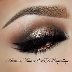 Golden mocha copper eye makeup #eyeshadow #smokey #eye #makeup #metallic #dramatic