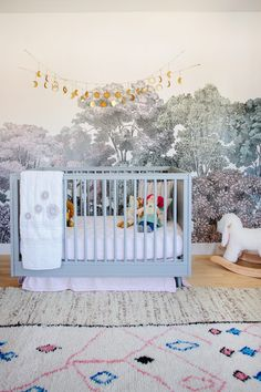 Modern Boho Nursery With A Touch Of Woodland Vibe