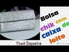 BOLSA CHIK DE FESTA. COM CAIXA DE LEITE. - YouTube Milk Carton Crafts, Diy Handbag, Trash To Treasure, Bag Patterns To Sew, Sewing Techniques, Bag Making, Diy Crafts, Youtube, Purses