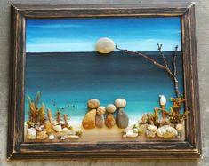 Un galet de verre Art Family / famille Art Rock de quatre en