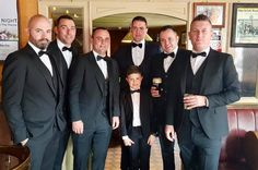 Here Come The Men In Black!!   Pictured is Leon Gordon & his crew looking sharp in their slim fit tux's before Leon headed off to meet his new wife Amanda at the Cathedral Altar on Friday last! Just the one drink was had Amanda!   Congratulations to Amanda & Leon from all at EJ Menswear!! New Wife, Altar, Black Men, Amanda, Cathedral, Congratulations, Suit Jacket, Wedding Day, Friday
