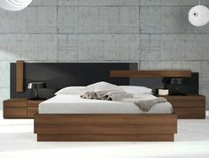 Among the several styles of bed room decoration, modern designs have attracted huge attention. They generally come with sleek, simple, yet clean impression. Modern Master Bedroom, Modern Bedroom Furniture, Minimalist Bedroom, Bed Furniture, Home Bedroom, Bedroom Decor, Luxury Bedroom Design, Master Bedroom Design, Double Bed Designs