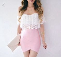 fashion, pink, and outfit image Mode, Rosa und Ausstattungsbild Look Fashion, Teen Fashion, Fashion Clothes, Fashion Outfits, Fashion Hair, Skirt Fashion, Fashion Women, Elegance Fashion, Fashion Glamour