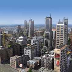 3d city buildings details 2012 - Detailed City 2012... by ES3DStudios