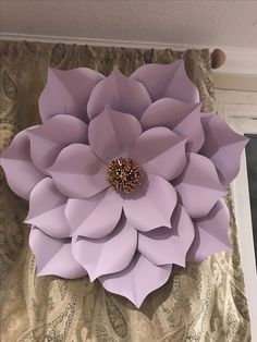 Paper flower pastel purple.