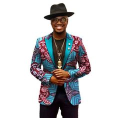 Dashiki Blazer - African Clothing for Men Traditional African Clothing, African Clothing For Men, African Clothes, African Fashion Designers, African Men Fashion, African Men Style, African Beauty, Mens Fashion Suits, Mens Suits