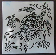 A New 2016 Stencil Sea Turtle by Carmen Medlin.  Sample created by Karenliz