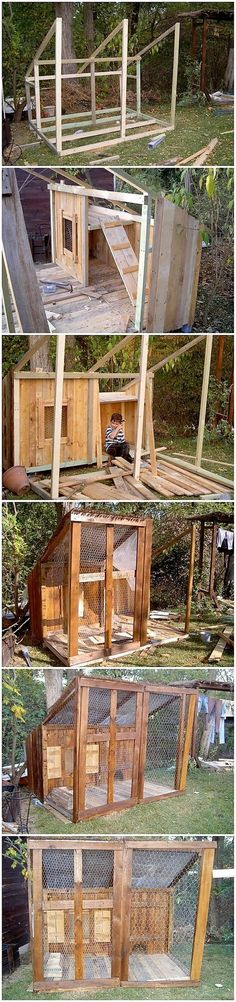 Here into this image we have the fantastic chicken coop piece of wood pallet that is so simple and rough designed out for your house garden placement areas. It is structurally combined together in one formation as finished with the classy rustic use of the wood pallet furnishing in it.