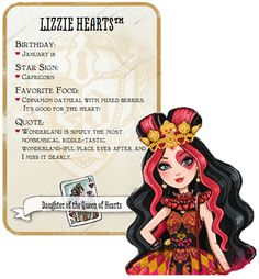Ever after high party ideas - Google Search Sleepover Party, I Party, Party Ideas, Lizzie Hearts, Queen Of Hearts, Ever After High, Monster High Characters, Childhood Tv Shows, Monster High Party