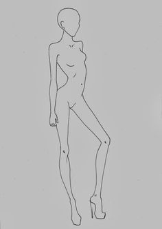 Fashion croquis templates - corpi figurini base moda 2