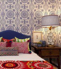 bohemian style bedding - Black & Spiro via Atticmag