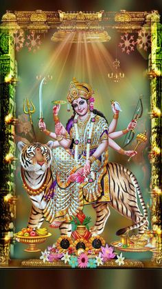 Navratri Puja will help you overcome all your negativities. Flourish with wealth on this Navratri by offering Homam to Lakshmi, Saraswathi & Durga. Shiva Parvati Images, Durga Images, Lakshmi Images, Shiva Shakti, Navratri Devi Images, Navratri Pictures, Navratri Puja, Durga Picture, Maa Durga Photo