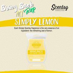 Scentsy Bring Back My Bars 2016 Simply Lemon