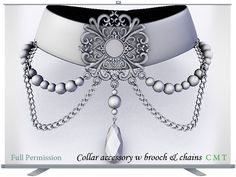 Collar accessory w brooch & chains Full Permission impact 22 AO UV included You can not sell or transfer the right to resell or tran. Chains, Brooch, Shoulder Bag, Accessories, Jewelry, Jewels, Schmuck, Jewerly, Jewelery