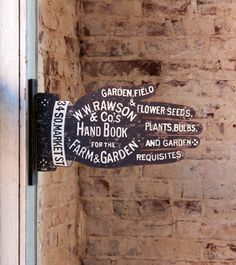 OLD ANTIQUE STYLE METAL GARDEN SUPPLY SIGN 2 Side ADVERTISING Shabby