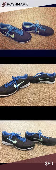 Nike Dual Fusion TR Women's Training Shoes Nike Dual Fusion TR Women's Training Shoes 443837 012 Black/Blue - US 9.5 Nike Shoes Sneakers