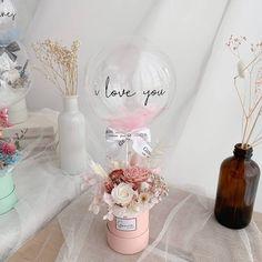 Balloon Box, Mini Balloons, Balloon Gift, Balloon Flowers, Balloon Bouquet, Custom Balloons, Flower Bouquet Diy, Bouquet Box, Birthday Balloon Decorations