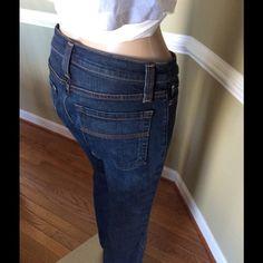 "Like new awesome denim 32"" inseam like new great dark denim Karen Kane Jeans Boot Cut"