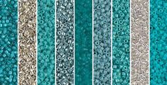 Turquoise Monday - Exclusive Mix of Miyuki Delica Seed Beads Bead Loom Patterns, Beading Patterns, Christmas Cross, Diy Christmas Gifts, Jewelry Making Supplies, Craft Supplies, Cat Cross Stitches, Hello Kitty Wallpaper, Loom Beading