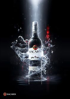 advertisement for BACARDI RUM created in Photoshop