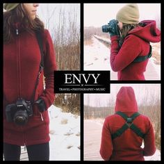 Are you tired of camera strap neck strain? Do you like to travel with your camera? Long hikes or adventures with your camera? Then you need an ENVY Camera Harness. It completely eliminates neck strain and keeps your camera safe and secure against your body. It's always available for every capture. Buy online at www.envystraps.com