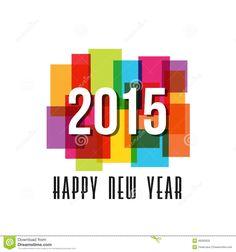 2015 Happy New Year rectangles
