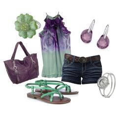 Green and Purple Summer, created by staceedawn