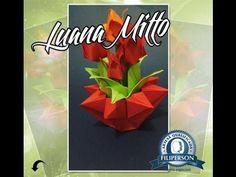 Como fazer um vaso de origami lindo e fácil-Vaso Estrela - YouTube