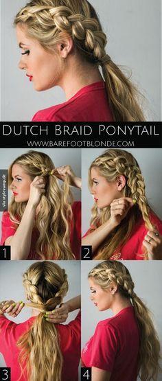 Dutch Braid Pferdeschwanz *__*