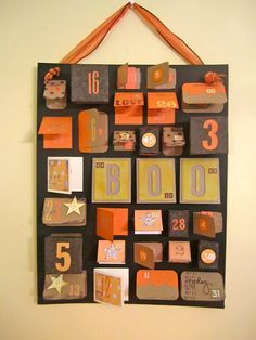 Halloween Advent Calendar Homemade From A Cookie Sheet Craft Diy Countdowns Pinterest Cookie Sheet Crafts Advent Calendars And Craft