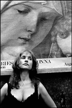 """Leonard Freed. USA. New York City. 1993. Actress Isabelle HUPPERT during the filming of Hal Hartley's """"Amatuer."""""""