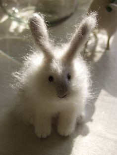 Natasha Fadeeva. Felted rabbit.