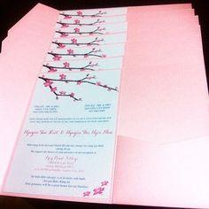 Custom Vietnamese English Bilingual Wedding Invitations. Www.lynntran.com