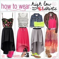 How to wear high low skirts <3