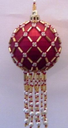 Ornament Cover Image detail for -Beaded Lattice Christmas Ornament Cover Pattern Beaded Christmas Ornaments, Handmade Ornaments, Christmas Jewelry, Handmade Christmas, Beaded Jewelry Patterns, Beading Patterns, Beaded Ornament Covers, Beads And Wire, Bead Crafts