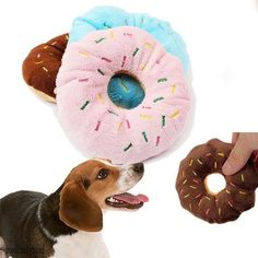 DOG DONUTS SQUEAKY! Click The Image To Buy It Now or Tag Someone You Want To Buy This For. #StockingStuffer
