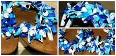 My handmade ribbon sandals! :)