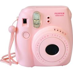 Fujifilm Instax Mini 8 Instant Film Pink Camera ($71) ❤ liked on Polyvore featuring accessories, camera, fillers, electronics and other