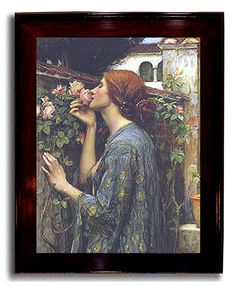 Soul of the Rose by Waterhouse Framed Canvas Art