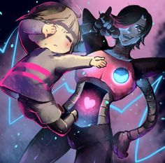 Undertale - Frisk and Mettaton