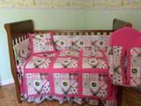 Pink John Deere Baby Crib Nursery Set by prairiewomandesigns,